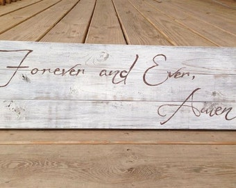 Forever and Ever Amen Song Lyrics Wedding Sign Love Wood Sign Randy Travis Custom Home Decor Wedding Anniversary Gift Country