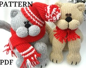 Knitting PATTERN Animal Knit Pattern Cat Animal Patterns Children Toy Knitting Doll Pattern Amigurumi Cat Baby Kids Toys Pattern PDF file