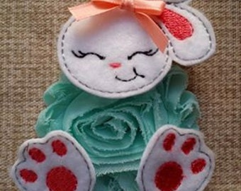 Bunny Parts Only MACHINE EMBROIDERY FILE Digital Design Small Feltie