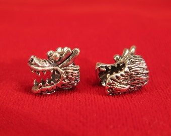 """5pc """"dragon"""" european charms in antique silver style (BC607)"""