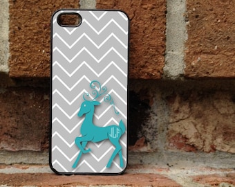 Personalized iPhone Case, - iPhone 4, iPhone 4s, iPhone 5, Samsung Galaxy S3, Galaxy s4 - Christmas - Winter - deer - reindeer - 185