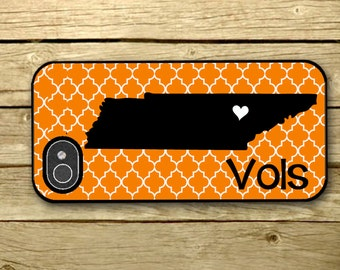 Personalized iPhone Case, - iPhone 4, iPhone 4s, iPhone 5, Samsung Galaxy S3, Galaxy s4  - UT - Tennessee - VOLS - 294