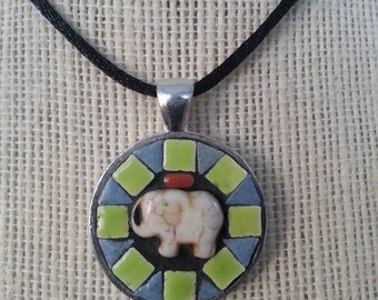 Handmade mosaic pendant / necklace
