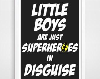 Superheroes, Superhero, Superhero Wall Art, Kids Poster, Kids Art Print, Superhero Art Print, Bedroom Decor, Batman, Kids Wall Decor.