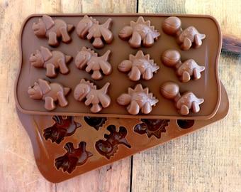 Dinosaur Silicone Mold for Soapmaking, Baking, Candy-Making, Ice, Fondant, etc. Food Grade Mold.
