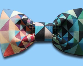 Handmade Colourful Triangle Bowtie, bowtie