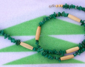 Jade and Hairpipe Necklace