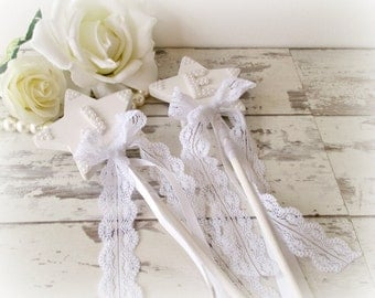 Initial Wedding Wand for a Flower Girl