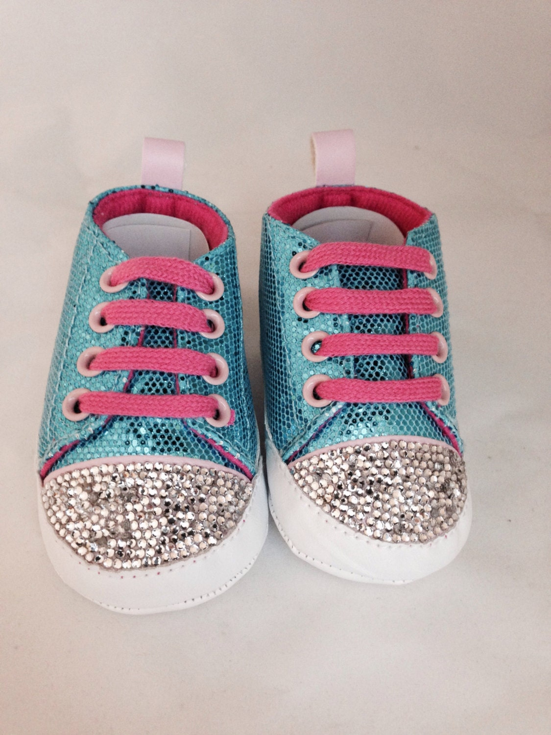 teal and pink baby shoes shoes baby by