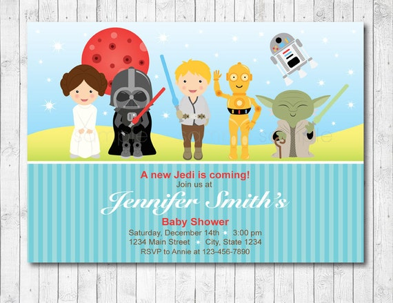star wars baby shower invitation star wars baby invite baby boy