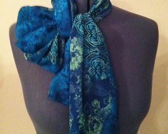 Chiffon Scarf/ Turquoise/ Blue-green Scarf