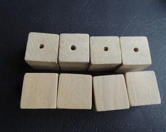15pcs  20mm square wood No Varnish(W762)