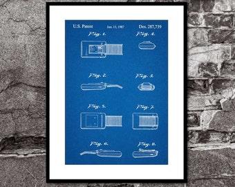Star Trek Original Communicator - Toy Patent Print - Art Print - Wall Art - Movie Poster