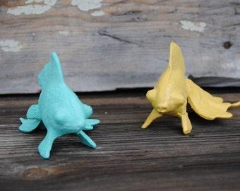 Beach Decor - Goldfish - Beach - Cast Iron - Beach House - Home Decor - Fish