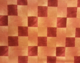 Timeless Treasures - Red/Orange/Gold Check - C-6636 - Cotton Fabric