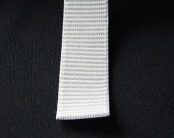 Five Yards-1 Inch Ribbed Elastic-White