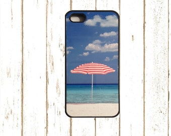 Nautical  Iphone 6 Case, Umbrella Iphone 55S Case, Umbrella Iphone 6/6S Case, Nautical IPhone 4 Case, Beach Iphone Case