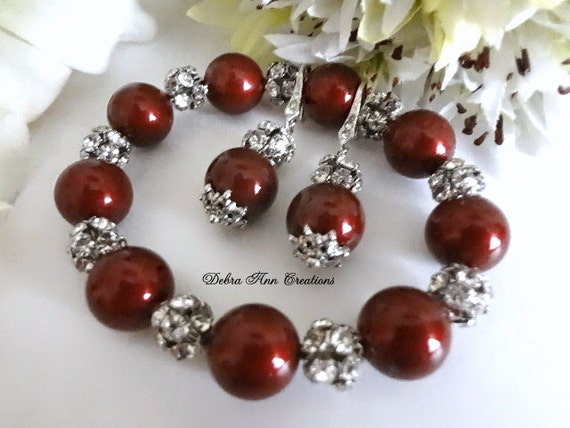 Swarovski Red Bordeaux Marsala Pearl Antique by ...