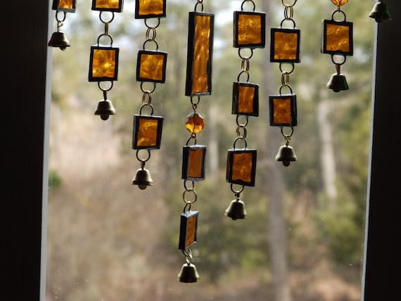 Stained glass driftwood windchime for How to make stained glass in driftwood