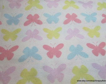 Flannel Fabric - Butterflies - 1 yard - 100% Cotton Flannel