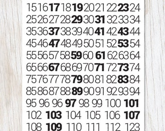 Math: Prime Numbers Greeting Card | FSC + recycled paper
