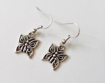 Small Butterflies Earrings.
