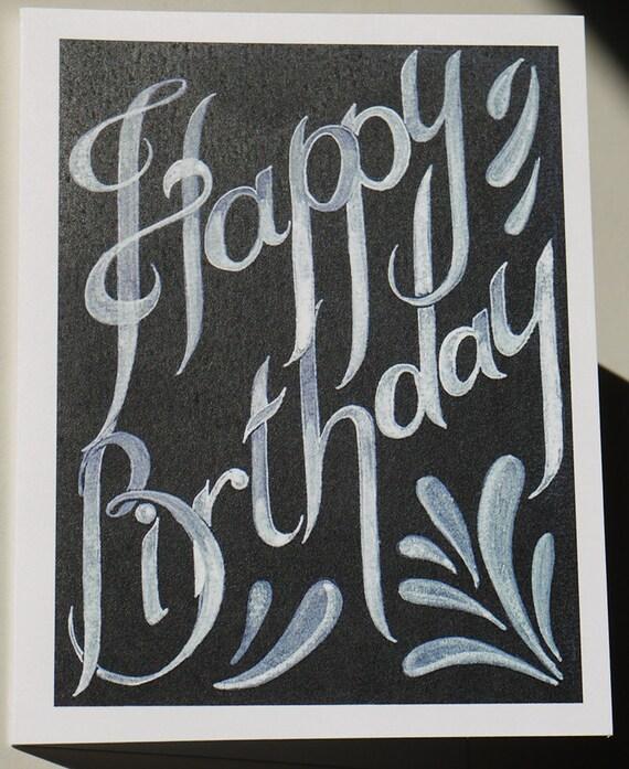 Black Birthday Cards gangcraftnet – Black and White Birthday Card