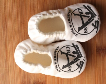 Crass, Punk Rock baby clothes, Stations of the Crass, Crass baby clothes, punk baby clothes, anarchy baby clothes, vegan baby shoes