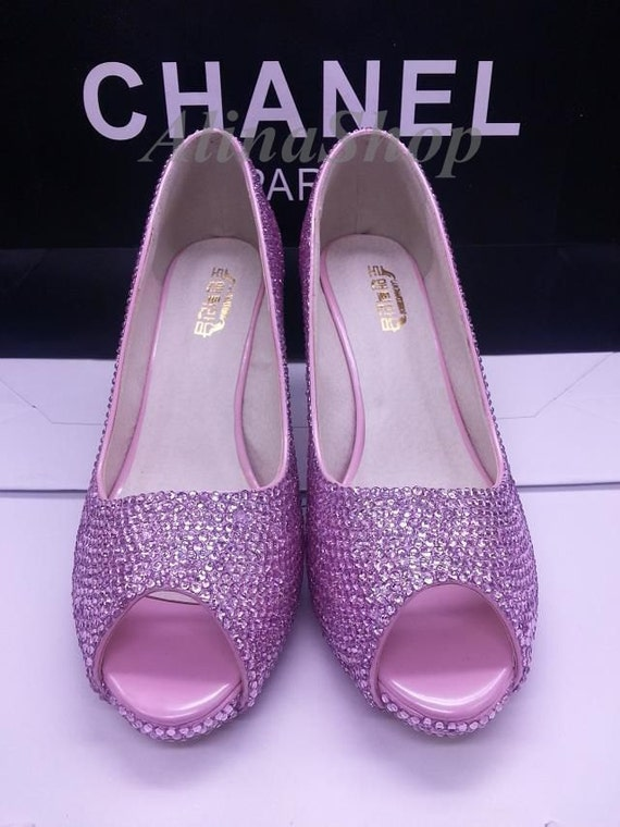 Pink Bling Wedding Shoes Baby Pink Bling Wedding Shoes