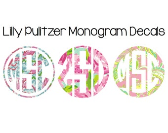 Lilly Pulitzer Monogram Decals