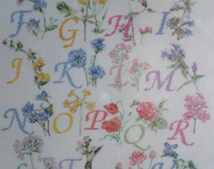 Wild Flower Alphabet Sampler