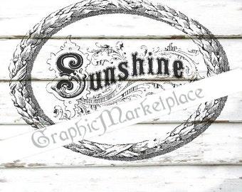 Sunshine Sentiments Transfer Burlap digital collage sheet graphic cardmaking printable image No. 1597