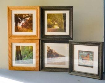 Set of 5 - Rustic Picture Frame - Vintage Picrure Frame