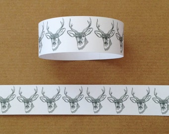 Stag Wedding Party Paper Chains/Garland - White/Grey 8ft (2.5m)
