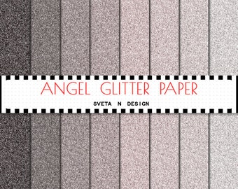 Glitter Digital Paper Background Overlay Texture - Instant Download - Angel Glitter