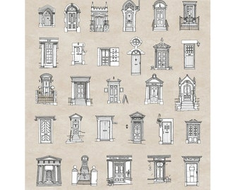 40 Front Doors of Frome Limited Edition Print