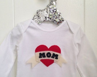 Valentines Day MOM baby onesie or toddler shirt