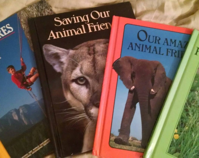Books for Young Explorers National Geographic Society 1980s four books