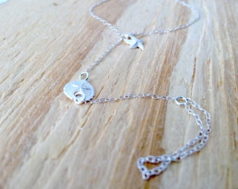 Sand Dollar Chain Bracelet Hand Chain Ring Sterling Silver Slave Bracelet Ring Bracelet Starfish Chain Finger Bracelet Bracelet Ring Chain