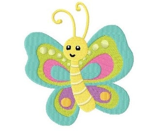 Embroidery Design Butterfly 4'x4' - DIGITAL DOWNLOAD PRODUCT