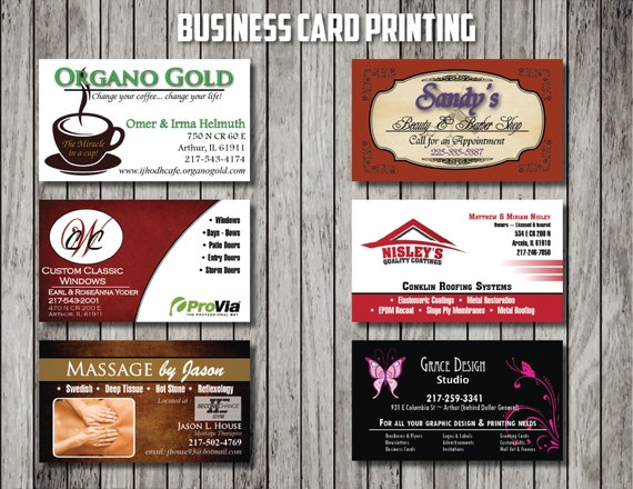 Custom Business Card Printing -  Get your business card design professionally printed - 250 Cards