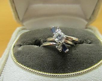 14kt White Gold 2pc Diamond Bridal Set Item W-#665