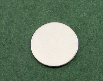 1/2 inch Sterling Silver Round Stamping Blank, Jewelry Making Supplies, Stamping Supplies, Bulk Round Stamping Disks for Initials ST19RR