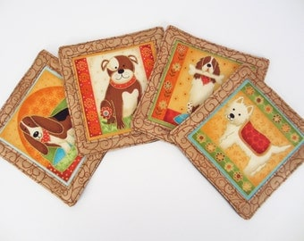 Coasters in Dog Theme Set of four