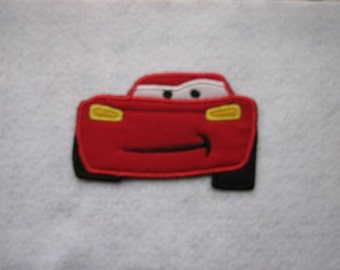 Red Car Cars Iron on No Sew Embroidered Patch Applique