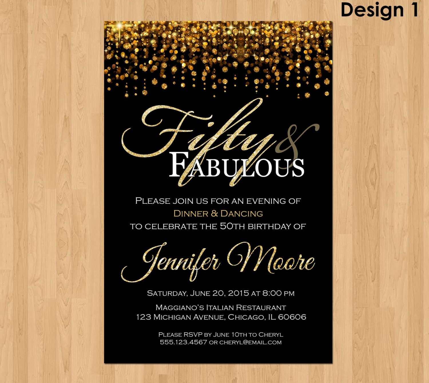 th Birthday Invitation for Women and Fabulous