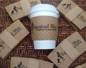 Set of 50 CUSTOMIZED PERSONALIZED Coffee Sleeves - Perfect for your next event, your favorite coffee drinker, or your own morning brew!