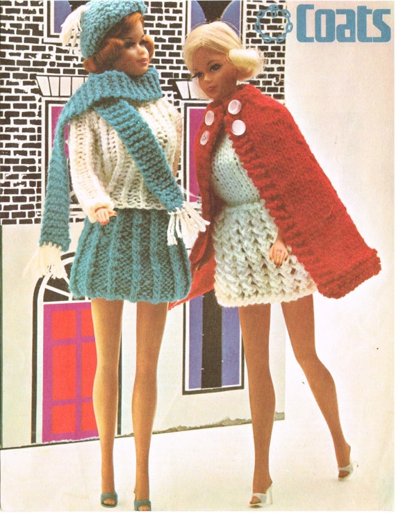 Simple Knitting Patterns For Scarves : 12 Dolls clothes knitting pattern. Barbie Sindy