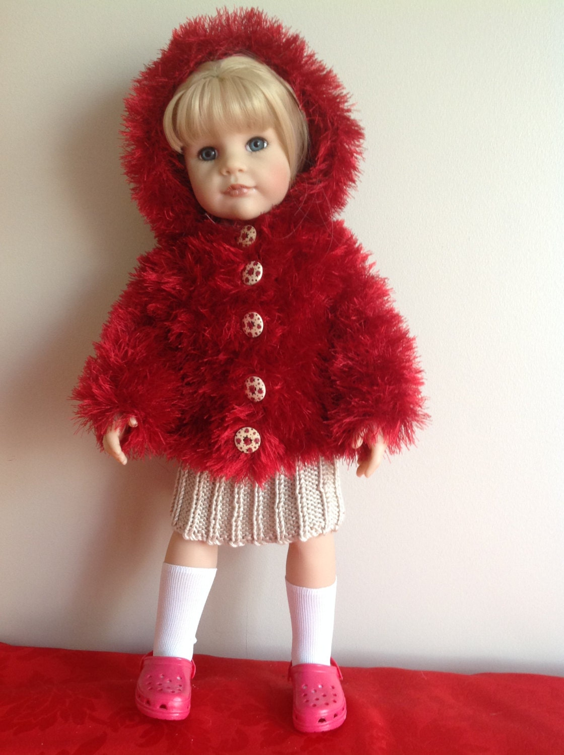 Knitting Clothes For Dolls : Dolls fashion clothes knitting pattern to fit or