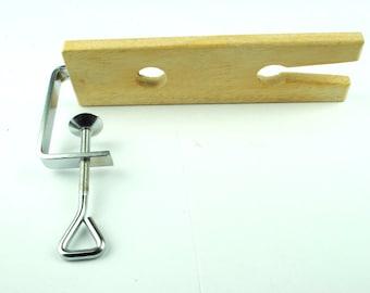 "Proops 8"" 200mm Hardwood Bench Pin & Clamp Jewellers V Slot Tool (J1224). Free UK Postage"